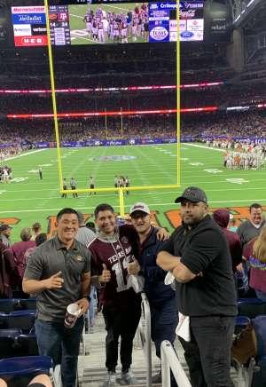 Rigoberto attended 2019 Texas Bowl: Oklahoma State Cowboys vs. Texas A&M Aggies on Dec 27th 2019 via VetTix