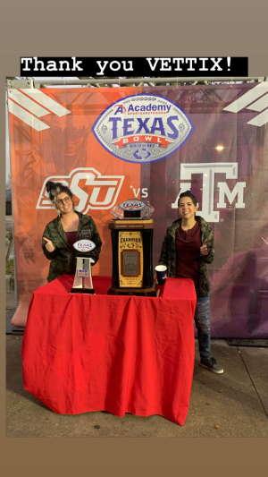 Casey attended 2019 Texas Bowl: Oklahoma State Cowboys vs. Texas A&M Aggies on Dec 27th 2019 via VetTix