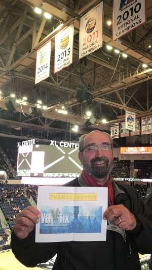 James attended University of Connecticut vs. Baylor - NCAA Women's Basketball on Jan 9th 2020 via VetTix