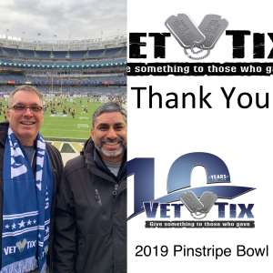 BRIAN attended New Era Pinstripe Bowl: Michigan State Spartans vs. Wake Forest Demon Deacons - NCAA Football on Dec 27th 2019 via VetTix