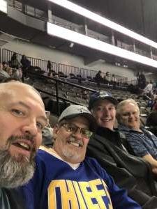 Terrance attended Jacksonville Icemen vs. South Carolina Stingrays - ECHL on Jan 15th 2020 via VetTix