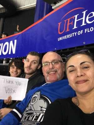 John attended Jacksonville Icemen vs. Orlando Solar Bears - ECHL on Jan 18th 2020 via VetTix