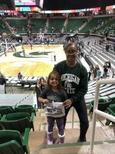 LILLIE attended Michigan State Spartans vs. Wisconsin - NCAA Women's Basketball on Jan 12th 2020 via VetTix