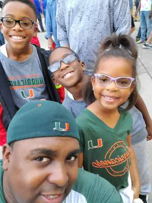 Terell attended 2019 Walk On's Independence Bowl: Miami vs. Louisiana Tech - NCAA on Dec 26th 2019 via VetTix