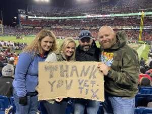Tearah attended 2019 Franklin American Music City Bowl: Mississippi State vs. Louisville - NCAA Football on Dec 30th 2019 via VetTix