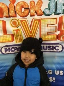 Joe attended Nick Jr. Live! Move to the Music on Jan 4th 2020 via VetTix
