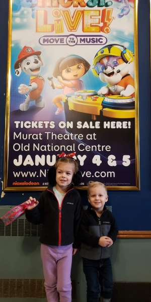 Matthew attended Nick Jr. Live! Move to the Music on Jan 4th 2020 via VetTix