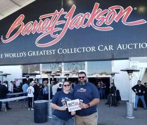 Angela&MikeHopp attended 49th Annual Barrett-Jackson Auction on Jan 12th 2020 via VetTix