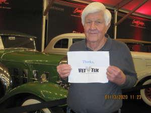 Thomas attended 49th Annual Barrett-Jackson Auction on Jan 13th 2020 via VetTix