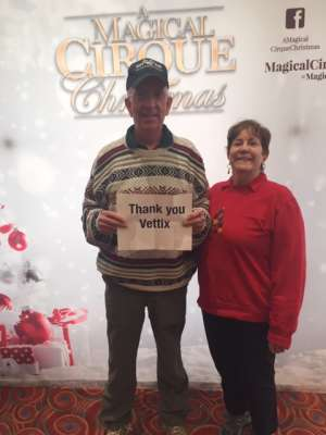 Dale attended A Magical Cirque Christmas on Dec 26th 2019 via VetTix