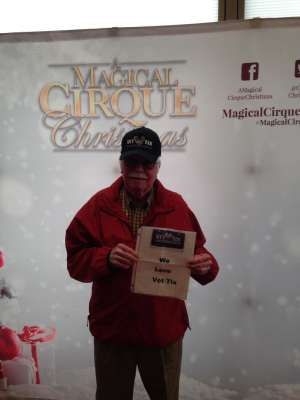 Larry attended A Magical Cirque Christmas on Dec 26th 2019 via VetTix