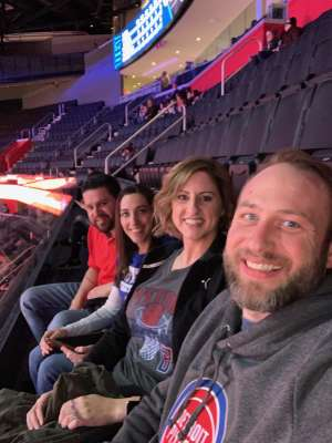 Joshua attended Detroit Pistons vs. Sacramento Kings - NBA on Jan 22nd 2020 via VetTix
