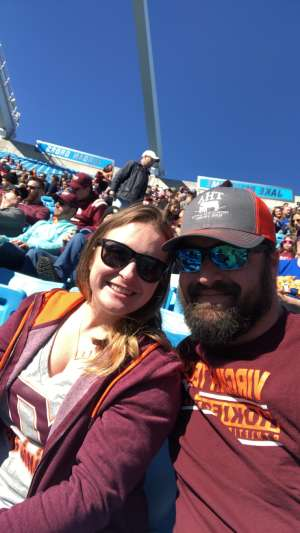 Zachery attended 2019 Belk Bowl: Virginia Tech Hokies vs. Kentucky Wildcats - NCAA on Dec 31st 2019 via VetTix