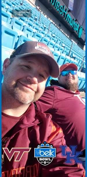 David attended 2019 Belk Bowl: Virginia Tech Hokies vs. Kentucky Wildcats - NCAA on Dec 31st 2019 via VetTix