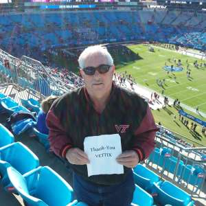 Sammy attended 2019 Belk Bowl: Virginia Tech Hokies vs. Kentucky Wildcats - NCAA on Dec 31st 2019 via VetTix