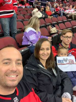 Edith attended New Jersey Devils vs. Colorado Avalanche on Jan 4th 2020 via VetTix