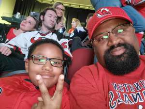 Odell attended New Jersey Devils vs. Colorado Avalanche on Jan 4th 2020 via VetTix