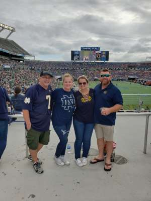 Shawna attended 2019 Camping World Bowl - Notre Dame vs. Iowa State on Dec 28th 2019 via VetTix