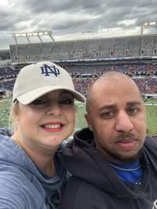Casey attended 2019 Camping World Bowl - Notre Dame vs. Iowa State on Dec 28th 2019 via VetTix