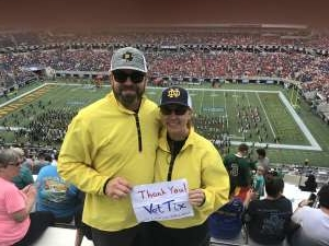 Mark attended 2019 Camping World Bowl - Notre Dame vs. Iowa State on Dec 28th 2019 via VetTix