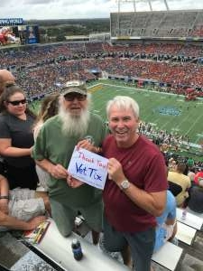 Denny attended 2019 Camping World Bowl - Notre Dame vs. Iowa State on Dec 28th 2019 via VetTix