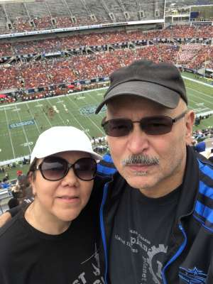 Angel attended 2019 Camping World Bowl - Notre Dame vs. Iowa State on Dec 28th 2019 via VetTix