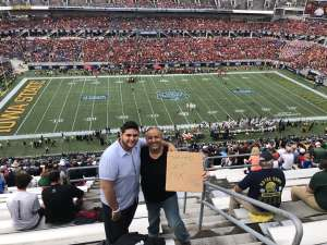 J R  attended 2019 Camping World Bowl - Notre Dame vs. Iowa State on Dec 28th 2019 via VetTix