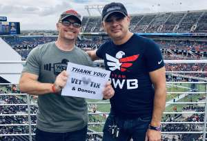 Patrick attended 2019 Camping World Bowl - Notre Dame vs. Iowa State on Dec 28th 2019 via VetTix