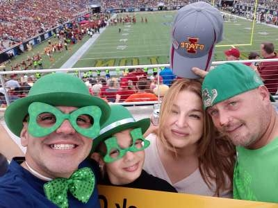 Christiann attended 2019 Camping World Bowl - Notre Dame vs. Iowa State on Dec 28th 2019 via VetTix