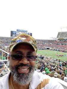 Vaughn attended 2019 Camping World Bowl - Notre Dame vs. Iowa State on Dec 28th 2019 via VetTix