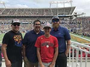 Daniel attended 2019 Camping World Bowl - Notre Dame vs. Iowa State on Dec 28th 2019 via VetTix