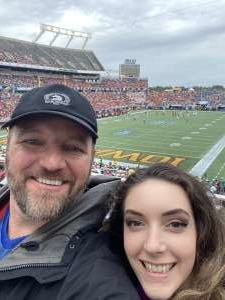 James attended 2019 Camping World Bowl - Notre Dame vs. Iowa State on Dec 28th 2019 via VetTix