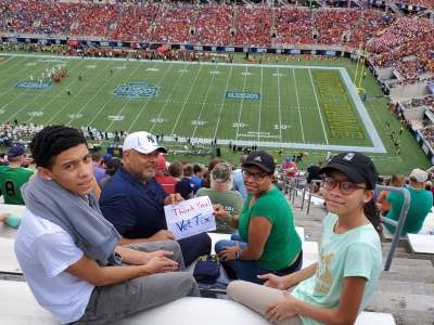 HECTOR attended 2019 Camping World Bowl - Notre Dame vs. Iowa State on Dec 28th 2019 via VetTix