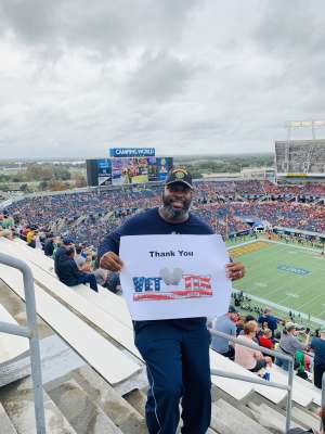 Trammell attended 2019 Camping World Bowl - Notre Dame vs. Iowa State on Dec 28th 2019 via VetTix