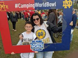 patricia attended 2019 Camping World Bowl - Notre Dame vs. Iowa State on Dec 28th 2019 via VetTix
