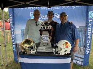 Rodney attended 2019 Camping World Bowl - Notre Dame vs. Iowa State on Dec 28th 2019 via VetTix