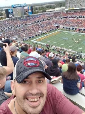 Douglas attended 2019 Camping World Bowl - Notre Dame vs. Iowa State on Dec 28th 2019 via VetTix