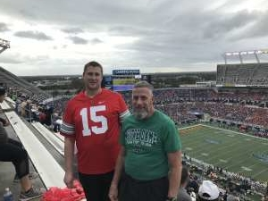 Thomas attended 2019 Camping World Bowl - Notre Dame vs. Iowa State on Dec 28th 2019 via VetTix