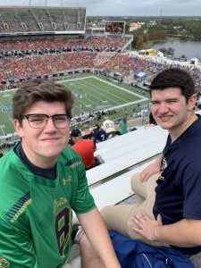 Christopher attended 2019 Camping World Bowl - Notre Dame vs. Iowa State on Dec 28th 2019 via VetTix
