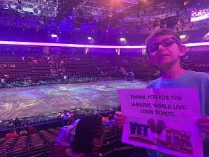 Jimmy attended Jurassic World Live Tour on Dec 27th 2019 via VetTix