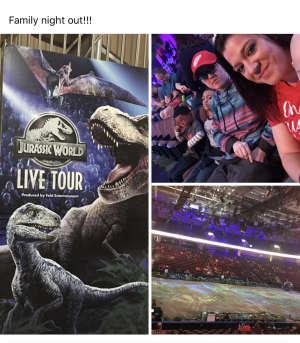 Kaitlin attended Jurassic World Live Tour on Dec 27th 2019 via VetTix