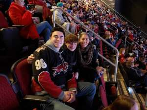 Denise attended Arizona Coyotes vs. Anaheim Ducks - NHL on Jan 2nd 2020 via VetTix