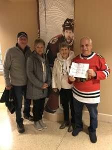 Ron attended Arizona Coyotes vs. Anaheim Ducks - NHL on Jan 2nd 2020 via VetTix