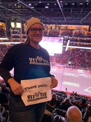 Lindsay attended Arizona Coyotes vs. Anaheim Ducks - NHL on Jan 2nd 2020 via VetTix