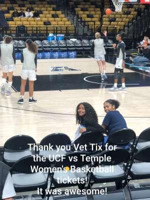 Rita Vi attended UCF Knights vs. Temple - NCAA Women's Basketball on Feb 26th 2020 via VetTix