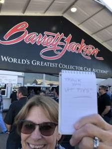 Sharon attended 49th Annual Barrett-jackson Auction Company - Scottsdale 2020 - Friday on Jan 17th 2020 via VetTix