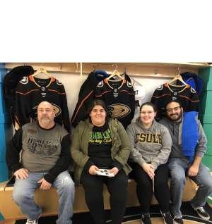 Dennis attended Anaheim Ducks vs. Nashville Predators - NHL on Jan 5th 2020 via VetTix