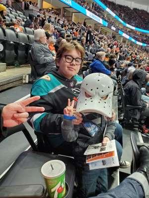 Virginia attended Anaheim Ducks vs. Nashville Predators - NHL on Jan 5th 2020 via VetTix