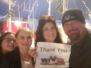 Roy attended Zoppe - an Italian Family Circus on Jan 2nd 2020 via VetTix