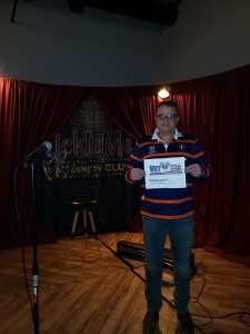 rob attended Tickle Me Comedy Club on Jan 16th 2020 via VetTix